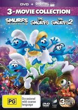 Smurfs 3-movie DVD The Smurfs 2 The Lost Village NEW Region 2 4 and 5
