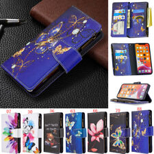 Zipper Wallet Butterfly Leather Flip Case For iPhone 11 Pro X XR XS Max 7 8 Plus