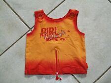 Nr.15 schönes T-Shirt Top PAMPOLINA Gr.134 orange rot Girl