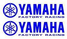 2 Yamaha Factory Racing Decal BLUE Sticker Motocross Jetski Waverunner yz r6 r1