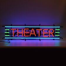 Neon Sign Theater gameroom game room wall shelf lamp light Man cave movie den
