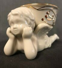 Frosted Berries Laying Cherub Tea Light Lenox For The Holidays 782551 in box
