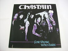 CHASTAIN - FOR THOSE WHO DARE - LP VINYL CUT OUT SLEEVE 1990 HOLLAND