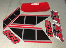 Yamaha xt600 43 f 83/86 moto NERA - adesivi/adhesives/stickers/decal