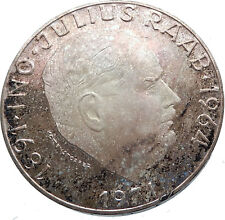 1971 AUSTRIA with Politician Julius Raab Antique Silver 50 Schilling Coin i72036