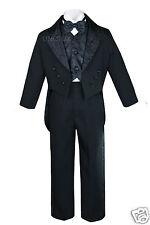 Baby Child & Boys Wedding Communion Recital Formal Party Tuxedo Suits White S-20