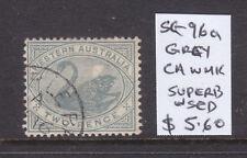 W.A.: 2d Grey Swan Sg 96a Wmk Ca Very Fine Used