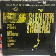 The SLENDER THREAD - QUINCY JONES SOUNDTRACK VINYL LP (1966) VINYL IS NEAR MINT