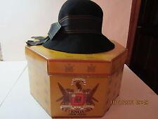 Vintage Women's Hat-Black Wool-Betmar Of New York & Paris-W/ Vintage Hat Box