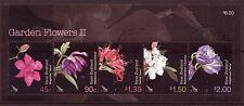 NEW ZEALAND 2004 GARDEN FLOWERS MINIATURE SHEET FINE USED