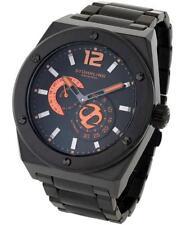 Stuhrling 281B 335957 Esprit Dvie Auto Black IP GMT Mens Watch