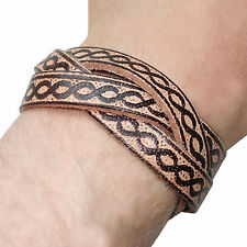 Brown Leather Surfer Bracelet Tribal Urban Wristband Bangle Mans Boys Woman Lady