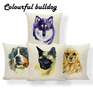 Siamese Cat Dog Cushion Cover Golden Retriever Chihuahua Pillows French Country