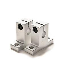 Silver CNC Aluminum Linear Rail Shaft Guide Support 2PCS SK8 8mm Bearing SSS