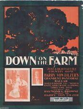 Down On The Farm, The Village Choir, Harry Von Tilzer, 1902, vintage sheet music