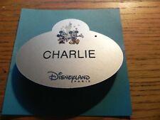 🧒🧒🧒 NAME TAG NAMETAG DISNEYLAND PARIS CAST MEMBER 💙💙💙  CHARLIE 💙💙💙