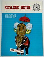 Rare Original Vintage Menu SEALORD HOTEL Restaurant Kochi Kerala India