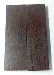 130mm Pair of Wenge Wood Scales Knife Handle Making Blank