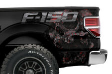 Ford F150 Rear Quarter Panel Graphic Kit Truck Bed Decal Set 09-14 SKULL