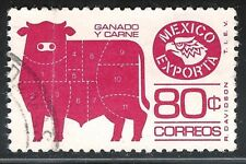 "uae02 Mexico Exporta used paper 1 printing error ""bionic bull"" very SCARCE"