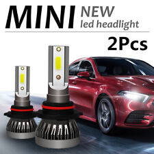 2Pcs 9005 HB3 H10 COB LED Headlight Conversion Bulb All in one White Waterproof