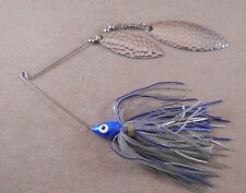 Bass Fishing Lure DR Custom Spinnerbait 1/2 oz. 2 Hammered Willowleaf Blades