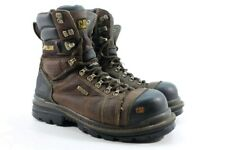 CAT 8'' Hauler CTCP Men's Brown Waterproof Work Boots Wide UK 7.5/ EU 41.5/ 2808