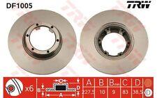 TRW Juego de 2 discos freno 228mm RENAULT 5 18 4 DACIA 1310 1210 1300 ARO DF1005