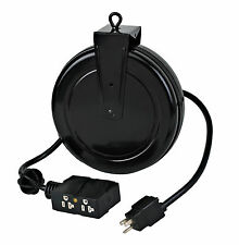 Industrial Retractable Extension Cord Reel 4 Outlets 12/3 Alert Stamp 5020TF-4C