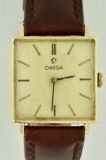Vintage Men's Omega 14k Gold Hand Wind Cal 625 Square Watch Model DD6842
