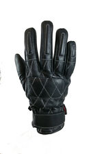 Torc Silver Lake Black Leather Mid Length Retro Motorcycle Gloves 2X Large