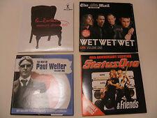 4 X Promo CDs (Status Quo,Wet Wet Wet,Paul McCartney & Paul Weller)