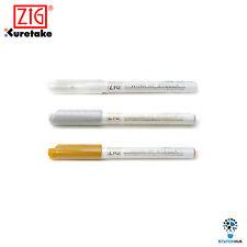 Zig Kuretake Memory System Wink of Stella | Glitter | Silver Gold Clear | 3 Pens