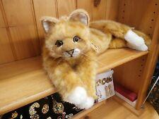 KOSEN  NEW Lying Orange (Ginger) Tabby Cat PLUSH Made in Germany