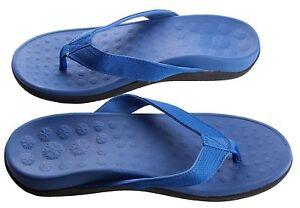 Blue orthotic sandals arch support plantar Fasciitis heel pain posture