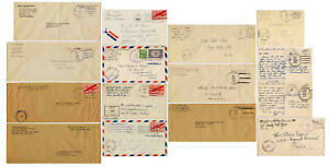 WW2 NAVY POST OFFICE CENSORED CARDS COVERS etc USA SHIPS IN GB