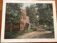 """1979 JIM HARRISON SIGNED NUMBERED LITHO 350/1500 Print """"Clabber Girl"""" Americana"""
