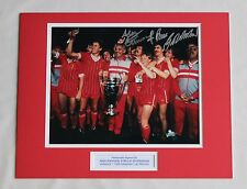 Alan Kennedy Bruce Grobbelaar Liverpool 84 HAND SIGNED Autograph Photo Mount COA