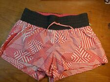 Saucony Womens Pink running shorts With Built In briefs Size Small
