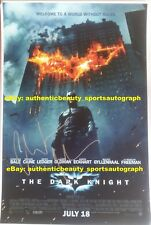 THE DARK KNIGHT SIGNED CHRISTIAN BALE BATMAN DC SUPERHERO MOVIE POSTER 12x18 RP