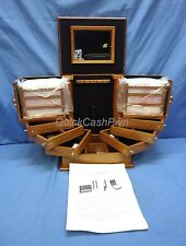 Lori Greiner Clever & Unique Creations Oak Safekeeper Deluxe Jewelry Box NEW!