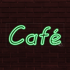 "Brand New ""Cafe"" 32x13X1 Inch Led Flex Indoor Sign 30155"