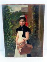 Paul SPANGENBERG (1843-1918) Zugeschrieben - Portrait der Gärtnertochter um 1900