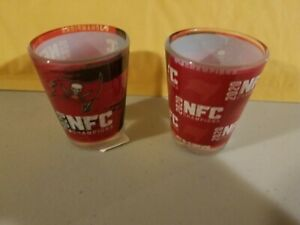2020 NFC Champions Super Bowl Tampa Bay Buccaneers Sublimated Shot Glass 2oz