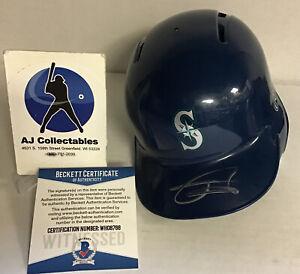 Julio Rodriguez signed mini batting helmet beckett coa seattle mariners JL/K2