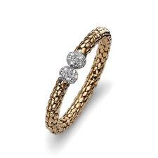 Oliver Weber Armreif Flex gold crystal 2857G weiß Swarovski Elements Damen