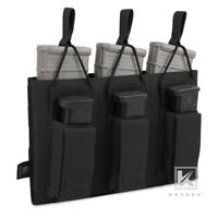 KRYDEX 5.56 & Pistol 9mm Magazine Pouch Triple Open Top Mag Carrier MOLLE Black