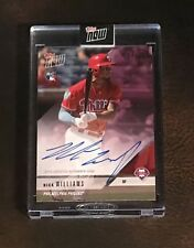 2018 TOPPS NOW #OD-276C NICK WILLIAMS (RC) ROAD TO OPENING DAY AUTO # 24/25