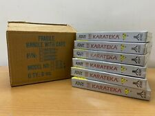 ATARI 7800 - KARATEKA - SILVER BOX - FACTORY SEALED LOT OF 6 SHIPPER BOX - RARE!