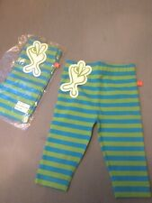Lipfish Leggins 2 Pairs Blue/green Age 3-6 Months Brand New With Tags